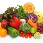 Dieta equilibrada rica en frutas y verduras
