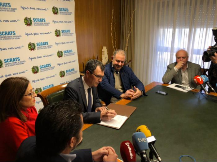 Alcalde de Murcia y los portavoces de Ciudadanos y PSOE
