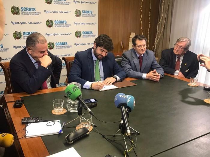 Presidente de la Region de Murcia y el Consejero de Agua y Agricultura
