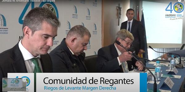 """Jornada """"40ª Aniversario del Trasvase Tajo-Segura"""" en laCR Riegos Levante Margen Derecha Río Segura"""
