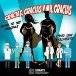 Campaña de agradecimiento a los profesionales esenciales durante la crisis sanitaria