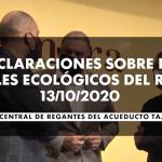 13/10/2020 | Declaraciones del SCRATS sobre los Caudales Ecológicos del río Tajo.