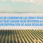 """resultados del Resultados del estudio """"Balance de carbono de las Zonas Regables del Trasvase Tajo-Segura bajo distintos escenarios de incorporación de agua desalada""""."""