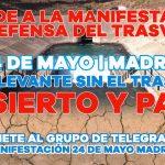 La manifestación de Madrid se podrá seguir en directo por streaming